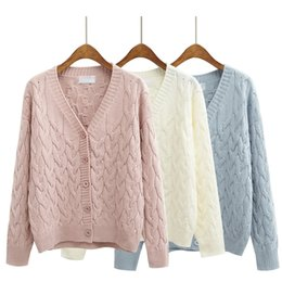 Wholesale-harajuku sweaters women 2016 korean style cute coats autumn winter  candy colors kawaii pink long cardigan sweater women 8bd715aa2