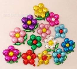 Flower balloons online shopping - Hot Home Festive cm five flowers Aluminum foil balloons lovely toys Wedding favors and gifts children s birthday party decoration balloons