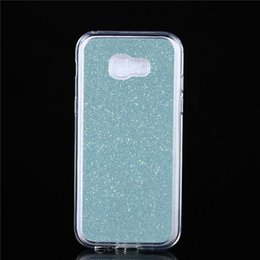 cases samsung galaxy a3 Canada - For Samsung Galaxy A320 A3 2017 Cover Fashion Bling Glitter Gradient Case Soft TPU Frosted Matte shimmering powder Phone Case