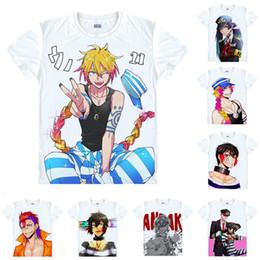 T Shirts Style Australia - Anime Shirt Nanbaka - The Numbers T-Shirts Multi-style Short Sleeve Hajime Sugoroku Kenshiro Yozakura Cosplay Motivs Hentai Shirts