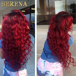 Discount sexy weaves - Grade 7a Malaysian Red 99j Deep Curly Virgin Hair Extension 4pcs lot Red Burgundy Deep Curly Hair Weaving For Sexy Fashi