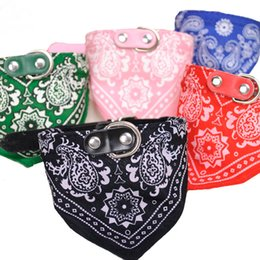 Adjustable Collars Canada - 1Pc Lovely Pet Dog Scarf Collar Adjustable Puppy Bandana Quality Pet Cat Tie Collar