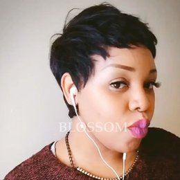 $enCountryForm.capitalKeyWord Australia - New arrival Top Quality Peruvian Human Short Pixie Cut Hair Virgin Indian Hair wigs full lace wig for Black Women