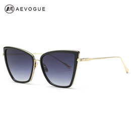 697f123ea2 Venta al por mayor-AEVOGUE Gafas de sol para mujer Sunbird Nueva alta  calidad Cat Eye Metal Frame Gafas de sol Diseñador de la marca UV400 AE0363