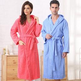 8aa58ca91f Cotton bathrobe women hooded sleepwear bathrobes for girls blanket towel  robe thickening lovers medium-long super soft plus size