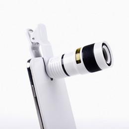 Универсальный 8X оптический мобильный телефон зум телескоп объектив камеры клип мобильный телефон телескоп для iPhone 6 plus для Samsung s6 Примечание 5 для Huawei на Распродаже