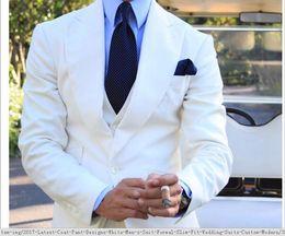 $enCountryForm.capitalKeyWord Canada - 2017 Latest Coat Pant Designs White Mens Suit Formal Slim Fit Wedding Suits Custom Modern Men Tuxedo 3 Piece Terno Vestidos M70014
