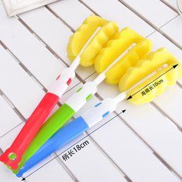 $enCountryForm.capitalKeyWord Canada - Multifunctional lengthened folding sponge cup brush sanitary cleaning brush simple durable cup cleaning brush 28cm
