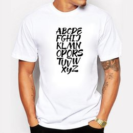 $enCountryForm.capitalKeyWord Australia - New Hand Painted English 26 Letters Design T-shirt Mens Short Sleeve Hipster Cotton Casual Tops Tee