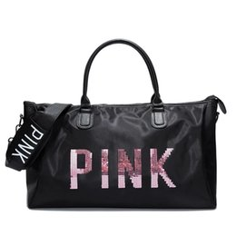 New arrival Pink Duffle Bag Womens Gym Sports Bag foldable sport duffel bag  waterproof travel gym duffle bag 3a96668422078