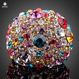 $enCountryForm.capitalKeyWord Canada - Wholesale Fashion Women Jewelry MOZEL Gorgeous Rose Gold Plated Multicolour Stellux Austrian Crystal Ring TR0102