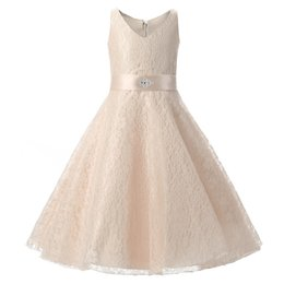 China Flower Girl Dresses Weddings Blush Pink Princess Tutu Sequined Appliqued Lace Bow Kids Princess Kids Party Birthday Gowns supplier royal blue flowers wholesale suppliers
