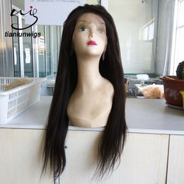 Color Lace Wig NZ - 22 inch Stock UPS Free Shipping African American Wigs natural color Brazilian Virgin Human Hair Lace Front Wig&Full Lace Wigs Black Women