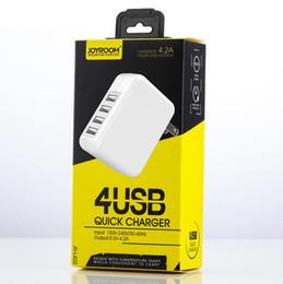 $enCountryForm.capitalKeyWord Canada - Original Joyroom JR-L402 US Plug 5V 4.2A 4 USB Port Wall Charger Adapter for iphone 7 samsung S8 with Retail Packing