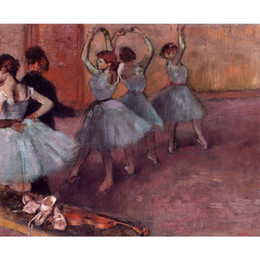 art deco landscape paintings Canada - Modern art Dancers in Light Blue (Rehearsing in the Dance Studio) Edgar Degas oil paintings Reproduction High quality hand-painted home deco