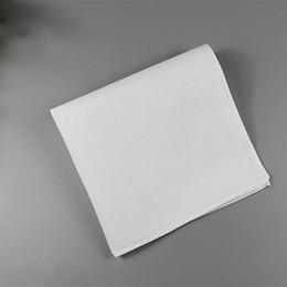 Großhandel Pure White Taschentücher 100% Baumwolle Taschentücher Frauen Männer 28cm * 28cm Einstecktuch Hochzeit Plain DIY Print Draw Taschentücher