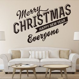 large christmas window stickers Canada - Merry Christmas Windows glass door Can remove wall stickers sitting room bedroom background adornment waterproof PVC wallpaper