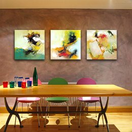 3 panels abstract wall art painting abstract watercolor canvas paintings with wooden framed ready to hang artwork for home decoration framing watercolor - Discount Framing