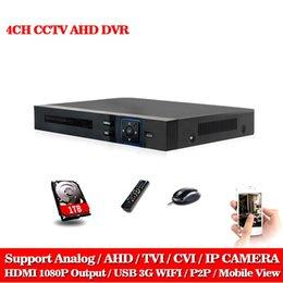 LLNIVISION AHD CCTV 4CH DVR HDMI 1080 p Dijital Video Kaydedici DVR Güvenlik CCTV Kamera Sistemi PTZ Kamera ile 1 TB Sabit disk