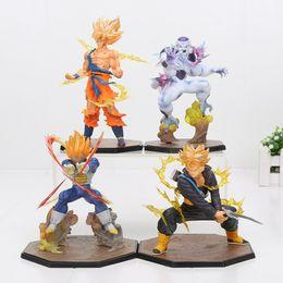 Doll vegeta online shopping - 14 cm Dragon Ball Z Super Saiyan Goku vegeta trunks freeza PVC Action Figure Toy model doll