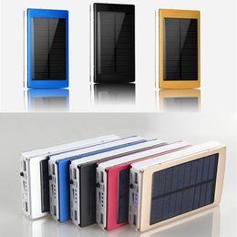 30000 mah Carregadores de Bateria Portátil de Acampamento Portátil luz Dupla Energia Solar Painel de Energia Solar Banco com Luz LED Para O Telefone Móvel PAD Tablet venda por atacado