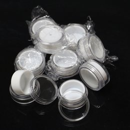 clear silicone jars Australia - clear Plastic container with silicone linner 5ml acrylic wax concentrate containers silicone jar dab wax containers