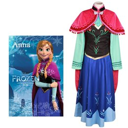 Wholesale Kukucos Adulte Femmes Nouveau syle Frozen Princess Anna Robe Costume Costume Jung Girl Cosplay Costume Halloween Party Dress