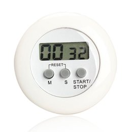 Wholesale Round Magnetic LCD Digital Kitchen Countdown Timer Alarm with Stand White Kitchen Timer Practical Cooking Timer Alarm Clock