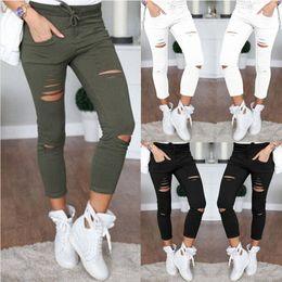 $enCountryForm.capitalKeyWord Australia - 2017 New women fashion slim hole sporting Leggings Fitness leisure sporting feet sweat pants black gray navy blue hollow trousers
