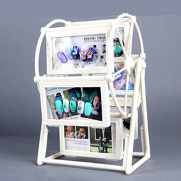 Fashion Nail Polish White Rotating Windmill Display Shelf Design Color Display Board Display Card Book Chart