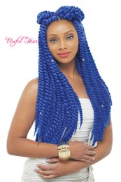 havana mambo twist crochet braids NZ - hot sell Havana mambo twist 100g marley crochet synthetic braiding hair bulks crochet braids hair extensions 12,18inch useful Havana twist