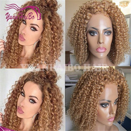 $enCountryForm.capitalKeyWord Canada - Super quality 27 honey blonde peruvian virgin hair tight curly lace front glueless wig free shipping