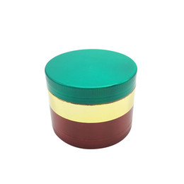 $enCountryForm.capitalKeyWord Australia - green golden and red smooth portable 4 layers 50mm zinc alloy Metal Herbal Tobacco grinder for tobacco use