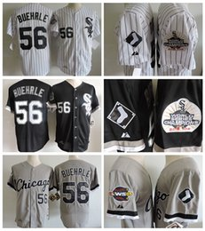 throwback 2005 world series champions chicago white sox mark buehrle baseball jersey retro black white 56