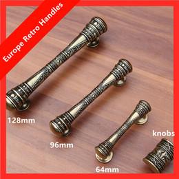 Handle 64mm NZ - 96mm 128mm vintage bronze dresser kitchen cabinet door handles 64mm antique brass drawer knobs pulls retro furniture handles