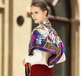 VelVet silk scarfs online shopping - Luxury Women s Scarf Female x110cm Square Scarves Brand Design Silk Scarfs and shawls Pashmina Spring Autumn Summer Pashmina Wraps HOT