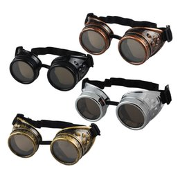 cdc8480c44a Wholesale-Hot Unisex Vintage Victorian Style Steampunk Goggles Welding Punk Glasses  Cosplay Glasses Sunglasses Men Women s Eyewear Goggles