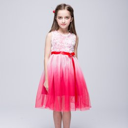 Red White Blue Tutus Australia - Baby Kids Clothing Summer Flower Girls' Dresses princess Ball Gown Pink Red white pageant dress TuTu skirt tulle Party gowns Sundress #28