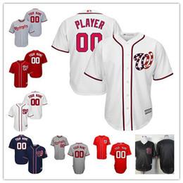 c7fe90d30c9 ... Cheap Mens Womens Youth Washington Nationals Custom 2017 White Red Navy  Black sewn on any name ...