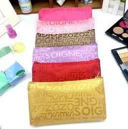 b5d35f36001 Women Portable Cosmetic Bag Fashion Beauty Zipper Travel Make Up Bag Letter Makeup  Case Pouch Toiletry Organizer Holder