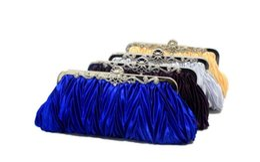 Bridal Makeup Wedding NZ - 13 Colors Hot Sell New Style Bridal Hand Bags Diamond Fold Satin Clutch Bag Makeup Bag Wedding Evening Party Bag