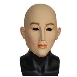 tops school girls UK - Top Grade 100% Latex Halloween Mask Female Latex Mask Masquerade Masks Cosplay Top Quality Sexy Girl Crossdresser Costume Free Shipping