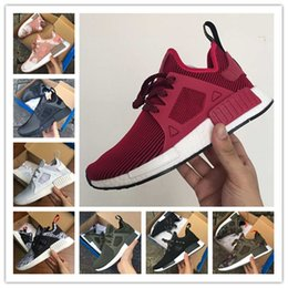 Barato Mulheres Casuais Baratos-Cheap New NMD XR1 Boost Duck Camo Navy White Army Green para qualidade superior MND Men Women Kids Casual Shoes Drop Free Shipping TAMANHO 36-45
