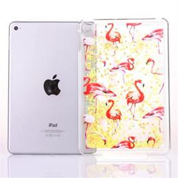 Discount wholesale printing ipad covers - Liquid Case for Apple iPad Mini 4 Creative Design Bling Glitter Shiny Quicksand Sparkle Stars and Flowing Liquid Transpa