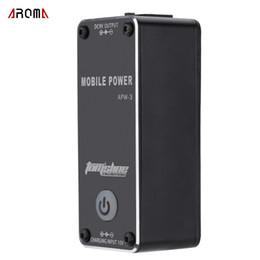 Aroma APW-3 Rechargable 9V 0.5A LED Mobile Stromversorgung für Gitarren-Effekte Hochwertige tragbare Effekte Stromversorgung