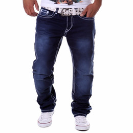 1280421ab9 Wholesale- Hot Sale Spring Summer New Fashion Regular Straight Men Jeans  Hot Casual Men Pants pantalones vaqueros hombre