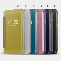 View Window Case Australia - Plating Mirror Leather Case Clear Window View Chrome Flip Electroplate Phone Case Cover for smartphone android mobile phone