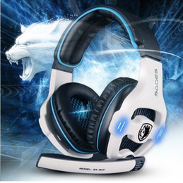 7.1 computers UK - 100% Original Sades SA-903 Earphone Stereo 7.1 Surround Sound Pro USB Gaming Headset With Microphone Headband Headphone