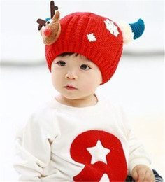 Cheap Winter Beanies NZ - Cheap Baby Kid's Knit Hats Thickening Plush Baby Knitted Hats Baby Beanies Hats Winter 1-4 Years Old Children Girls Boy Wool Warm