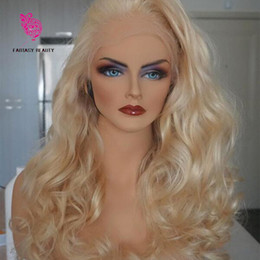 platinum hair wigs NZ - Top Quality 613 Full Lace Human Hair Wigs Platinum Blonde Vrigin Peruvian Wavy Blonde Human Hair Wig With Bleached Knots And Baby Hair